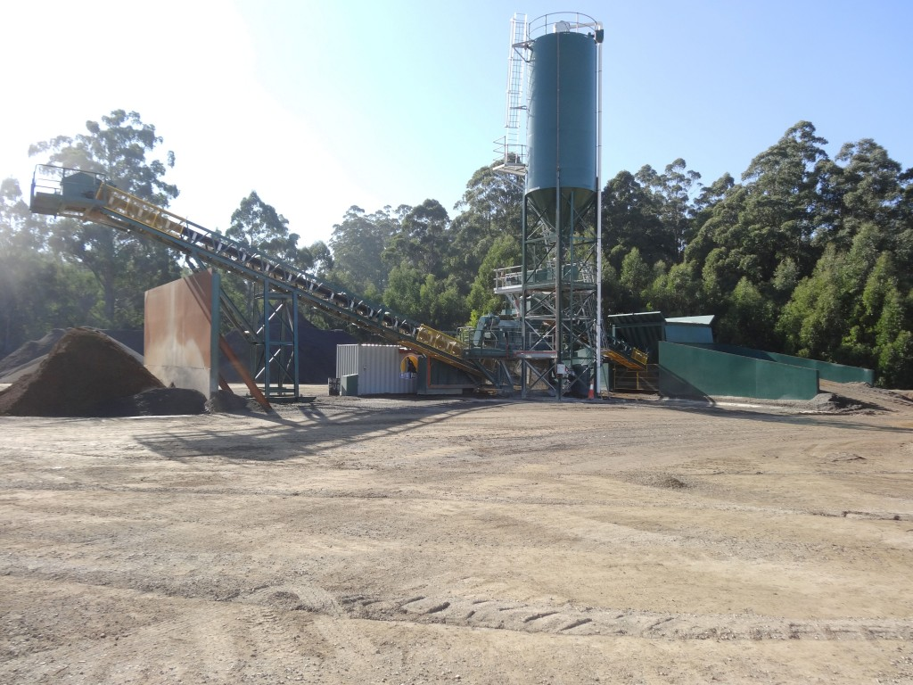SITE PHOTO: New Pugmill at Castella Quarries.