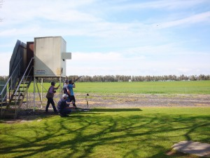 Skeet Shooting at the Wangaratta Clay Target Club.