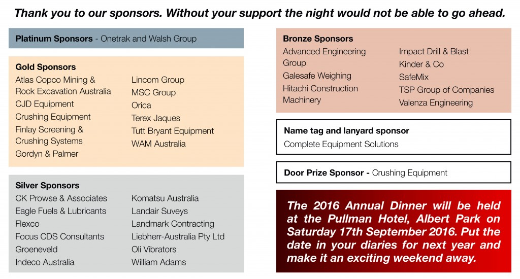 A list of our sponsors