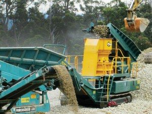 SITE PHOTO: Mobile Crushing and Screening Plant
