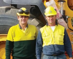 Quarry Manager Processing Don Rigby (L) Quarry Site Manager Brian Calovic (R)