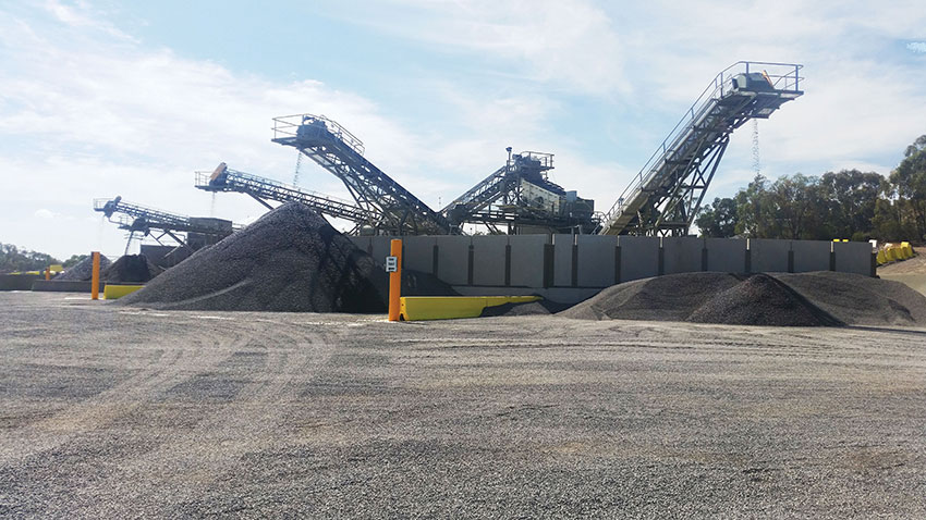 SITE PHOTO: Site Crushing Plant, aggregate production