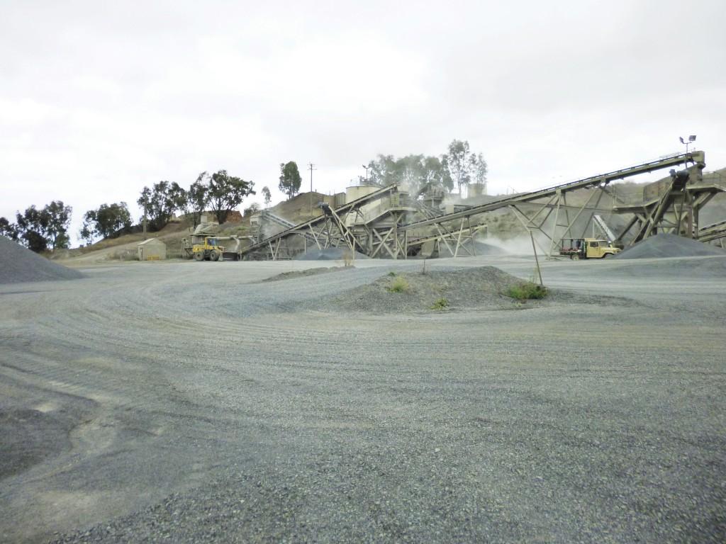 SITE PHOTO: Moree Quarry Crushing Plant
