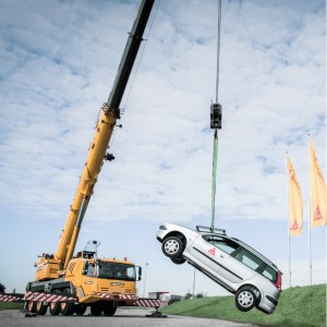 Graphic provided by Sika Australia - car being lifted by only its windscreen