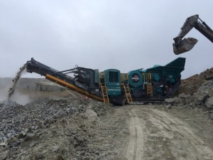 SITE PHOTO: New Powerscreen PT600 jaw crusher fully guarded