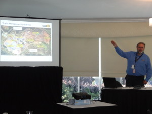 Tony Ferrazza, WorkSafe Victoria presenting during the Traffic Management Workshop