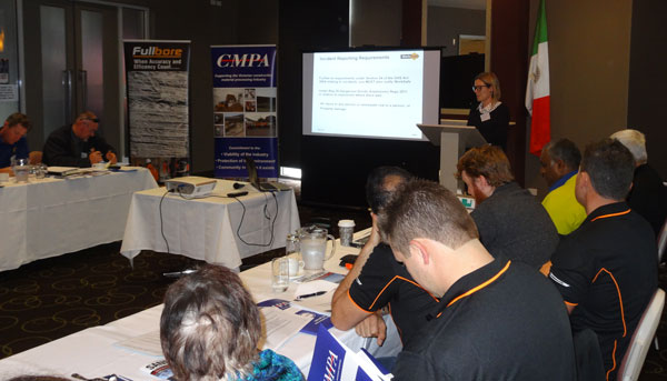 nita Macartney, WorkSafe Victoria presenting during the Blasting Workshop.