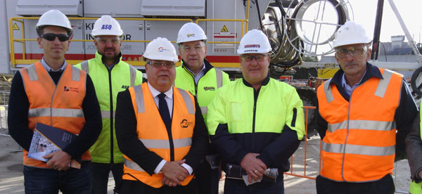 Left to Right: CMPA Management Committee Members in attendance – Ant Bateup (Mansfield Crushing), Tim Bird (All Stone Quarries), Tim Pallas MP, Garry Cranny (Dandy Premix Quarries and CMPA Chairperson), Andrew Burdett (Burdett Sands), Basil Natoli (BCA Consulting).