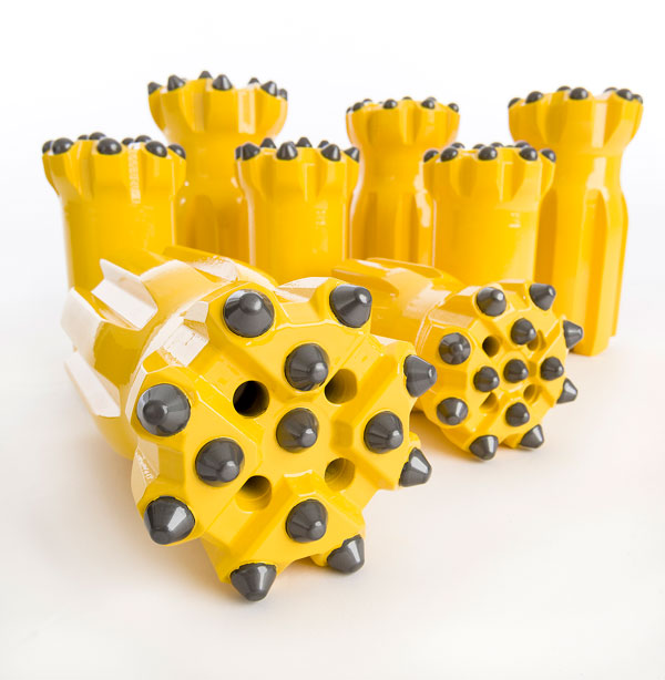 Epiroc drill bits T51 suitable for a T40 rig.