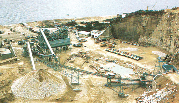 Hong Kong, 450 t.p.h aggregate plant for Anderson, Asia.